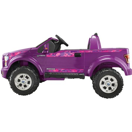 Power wheels girls 39 ford f 150 12 volt battery powered for Motorized cars for 8 year olds