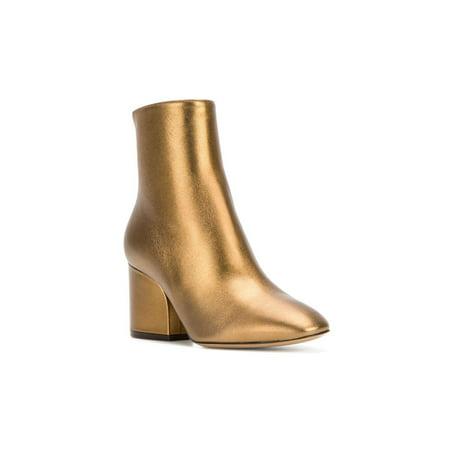 Salvatore Ferragamo Womens Pisa 70 Almond Toe Ankle, Bronzo Nappa, Size 6.5