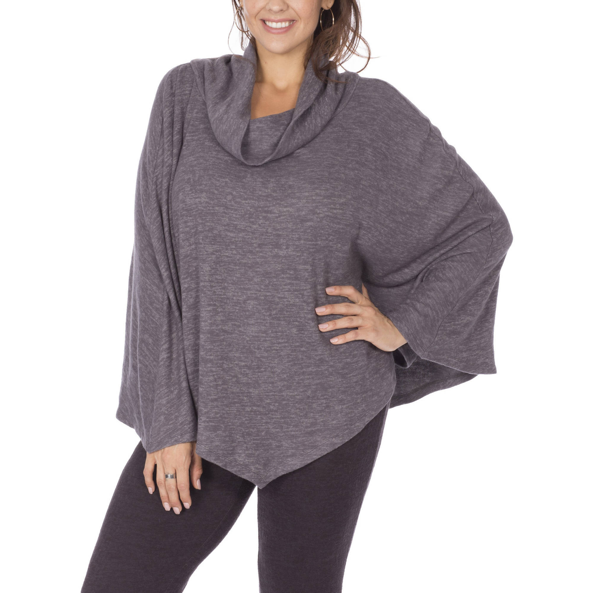 Moda Women's Next Generation Textured Cowlneck Poncho by