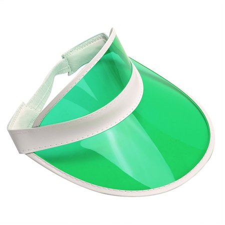 - Tennis Beach Colored Plastic Clear Sun Bingo Vegas Dealer Golf Visor Hat Cap