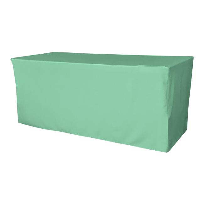 TCpop-fit-96x48x30-MintP44 4.3 lbs Polyester Poplin Fitted Tablecloth, Mint - image 1 of 1