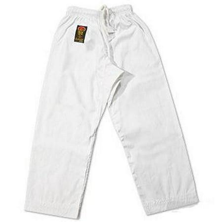 ProForce Gladiator 6 oz Karate Pants White Elastic (Infant Karate Pant)
