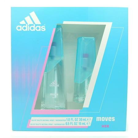 adidas Moves Her Set: Eau de Toilette Spray 1 Fl Oz., Eau de Toilette Spray .5 Fl Oz.