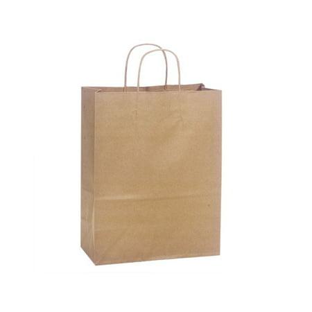 Carrier Natural Kraft Shopping Bags 25 Pk 10x5x13  Carrier Natural Kraft Shopping Bags 25 Pk 10x5x13  Brown Kraft Shopping Bags Paper Shopping BagsSmall Unit Pack (Pcs) -25