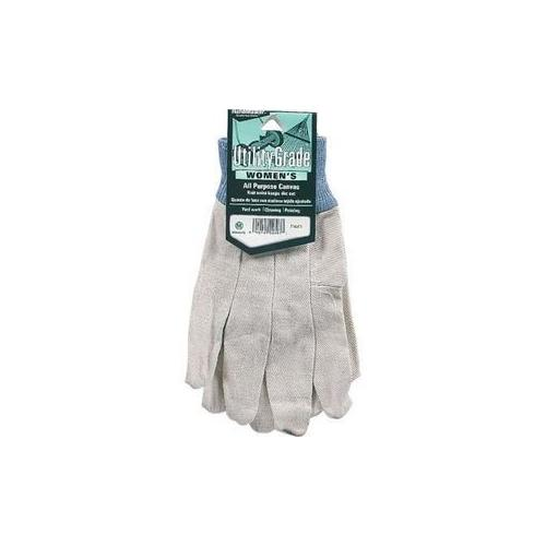 Womens Canvas Knit Work Glove (Pack of 6)
