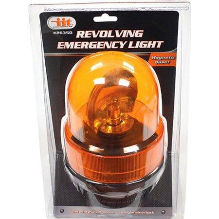 IIT 26350 Revolving Emergency Light Strobe Snow Plow Tow Truck Deck LED Flash, Amber
