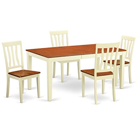 piece dinette table set table and 4 dining room chairs