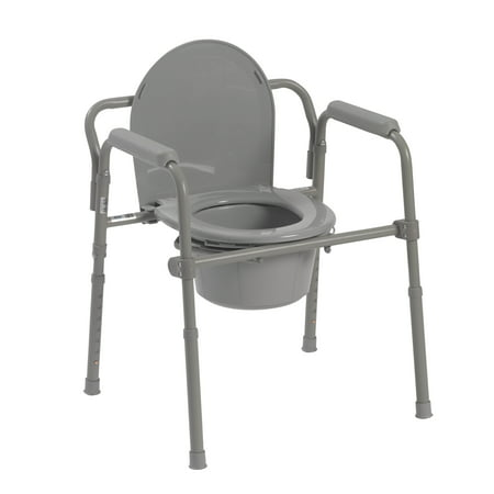 Drive Medical Steel Folding Bedside (Hoyer One Piece Commode Sling)