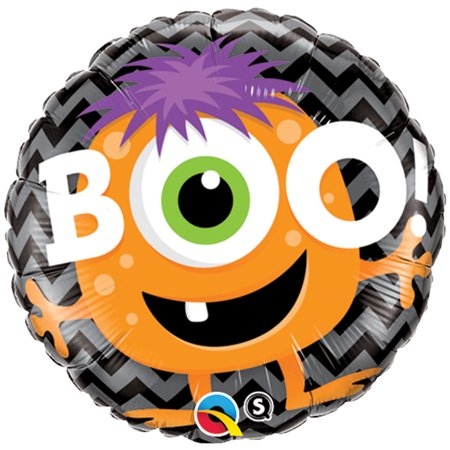 Qualatex Boo Monster Chevron Halloween 18