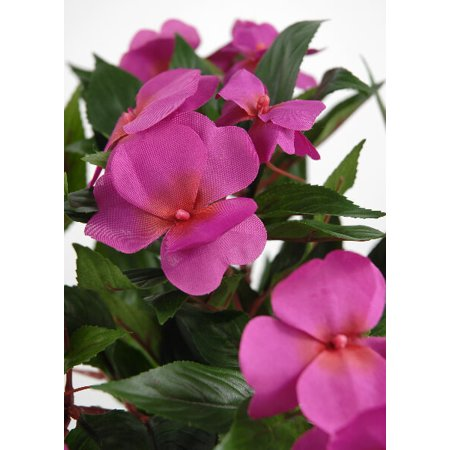 New guinea impatiens bush fuchsia silk flowers walmart new guinea impatiens bush fuchsia silk flowers mightylinksfo