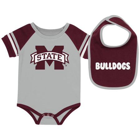 Mississippi State Bulldogs Baby Bodysuit and Bib Set Infant Jersey