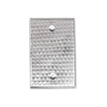 Monarch Abode Nickel Hammered Blank Wall Plate