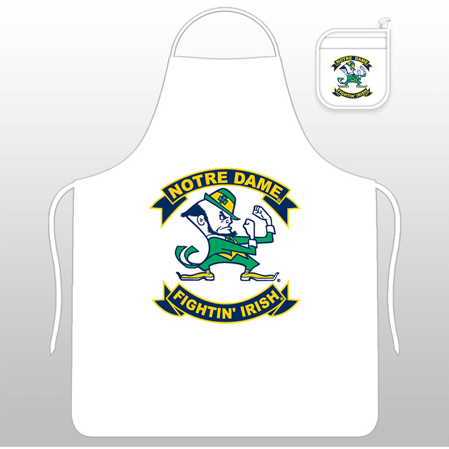 NCAA Notre Dame Tail Gate Kit with Apron and Mitt by Sports Coverage, Inc.
