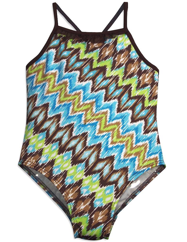 405 South by Anita G - Little Girls One Piece Swimsuit blue zig zag / 4