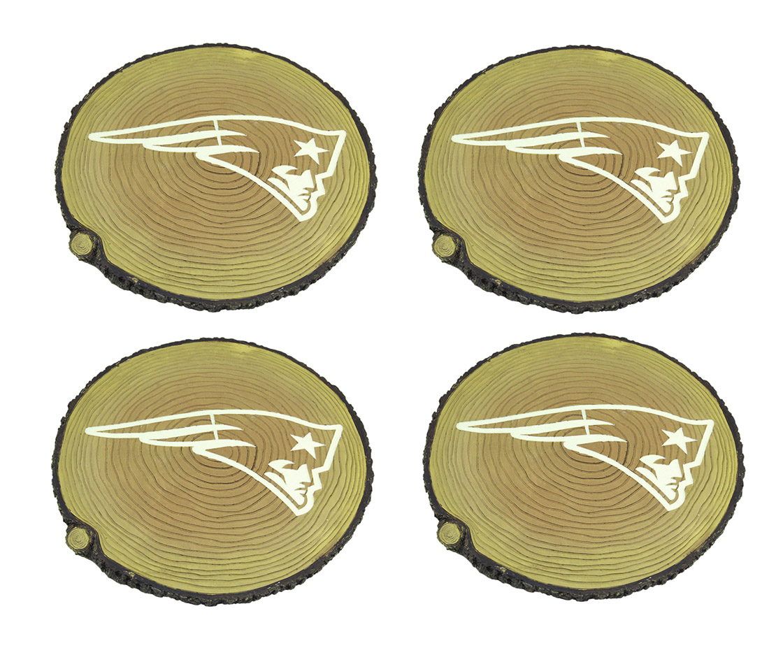 New England Patriots Set of 4 Glow In the Dark Tree Stump Stepping Stones by PARKER SURPLUS SALES