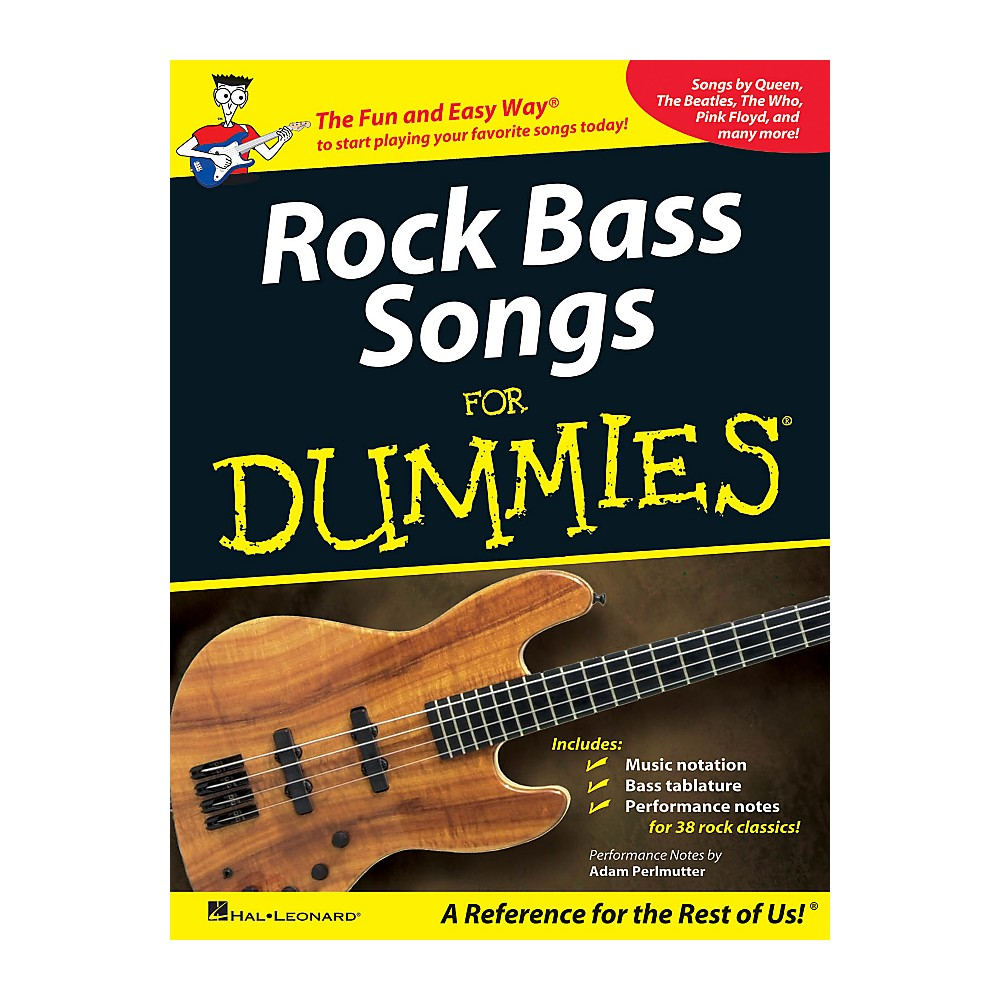 Hal Leonard Rock Bass Songs For Dummies Walmart Com