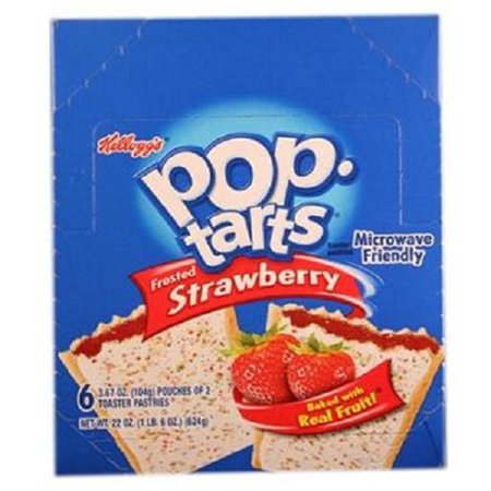 Product Of Kelloggs Pop Tart, Strawberry, Count 6 (3.67 oz) - Granola/Cereal/Oat/Brkfast Bar / Grab Varieties &
