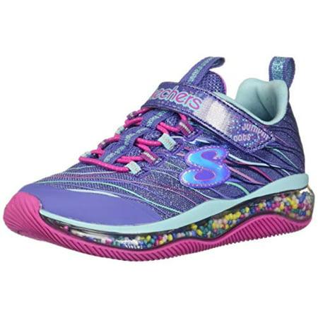 Skechers Kids Girl's Skech-AIR JUMPIN'DOTS Shoe, Blue/Multi, 1 Medium US Little Kid Air Jordan 1 Shoes