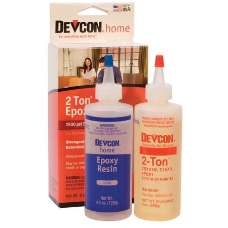 Two Bottles of Devcon® 2-Ton Epoxy Jewelry Making Resin Hardener for Metals Wood Glass Ceramics Bonding Adhesive Glue - GLU-735.90