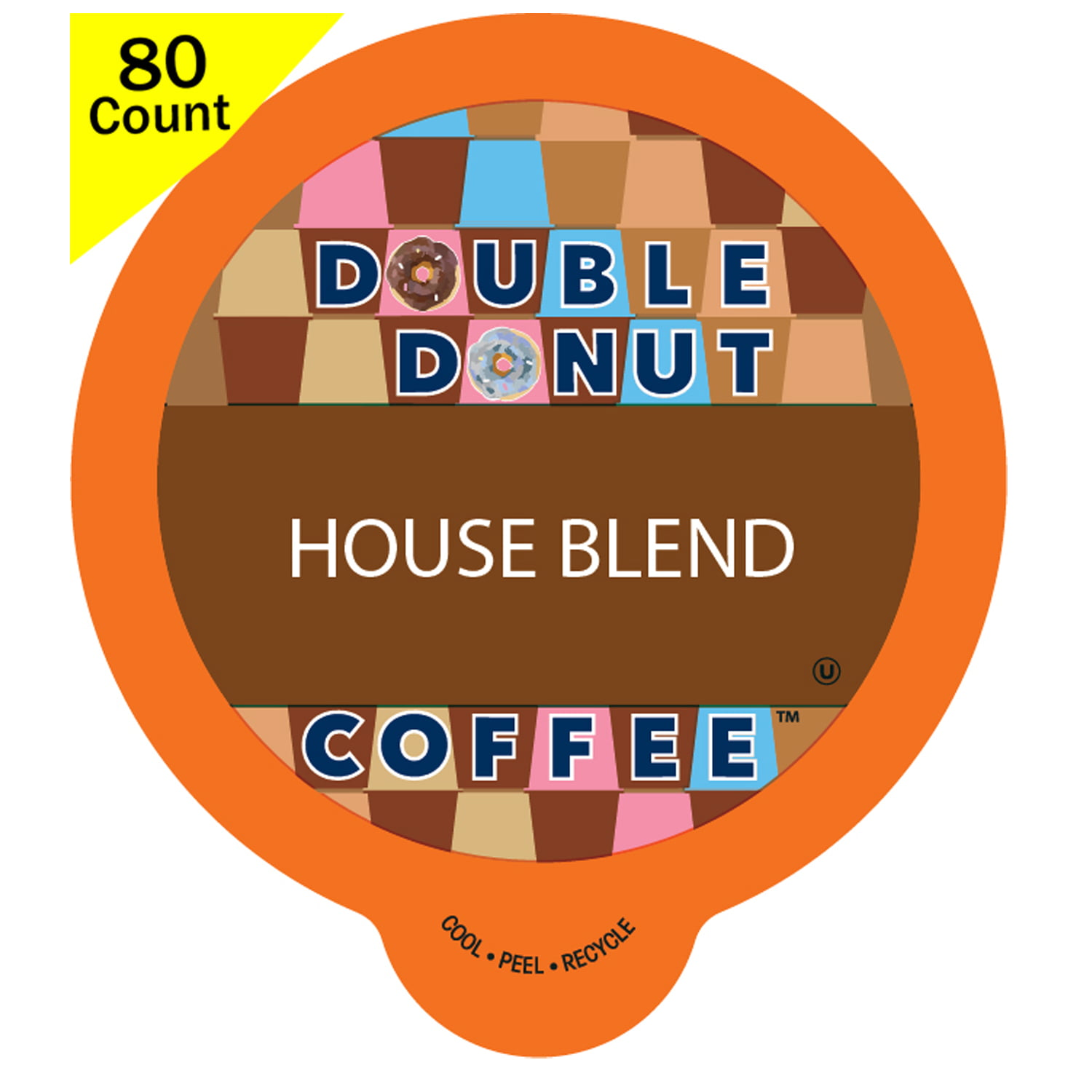 Double Donut House Blend Roast Coffee, in Recyclable Single Serve Cups for Keurig K-Cup Brewers, 80 Count - Walmart.com