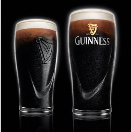 Guinness Beer Glasses - Guinness Irish Pint Beer Glasses 16oz - Set of 4