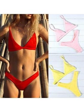 1f2c696fa4881f Product Image Womens Padded Push-up Bra Bikini Set Swimsuit Bathing Suit  Swimwear Beachwear