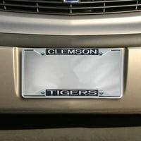 Clemson Tigers Glitter License Plate Frame - Black