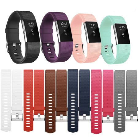 For Fitbit Charge 2 Bands 10 PACK Adjustable Replacement TPU Wristband Band for Fitbit Charge 2