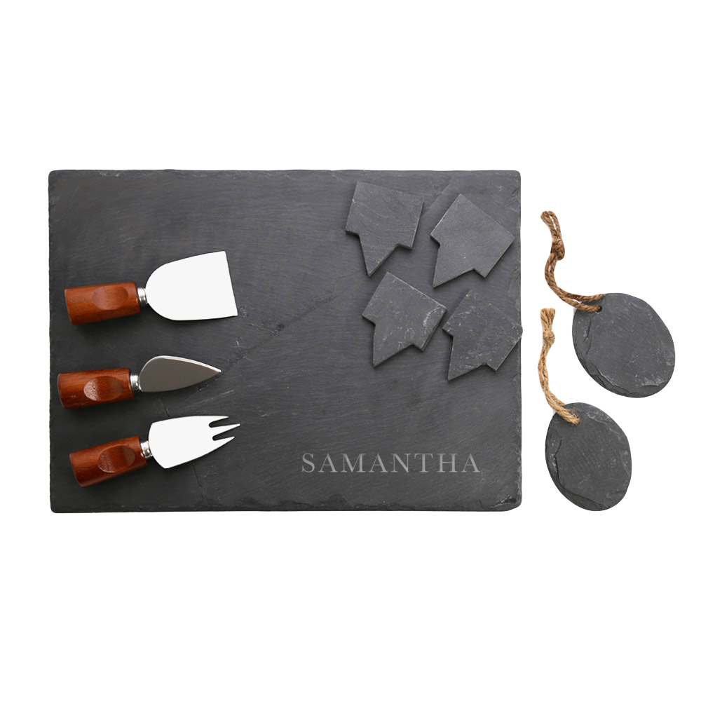 Samantha Custom 10-Piece Slate Cheeseboard & Party Tray