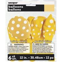 Latex Polka Dot Balloons, 12in, 6ct