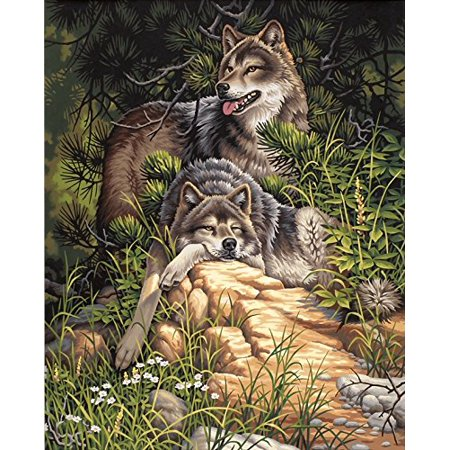 Paintworks Paint By Number Wild Free Wolves Includes High