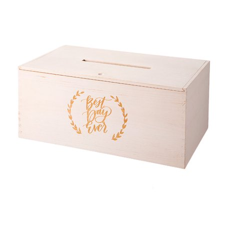 Graduation Cap Card Box (David Tutera Wood Gift Card Box: Best Day Ever, 8.56 x)
