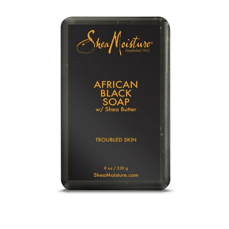 Shea Moisture Bar Soap for troubled skin Moisture African Black with Shea Butter 8 (Shea Moisture African Black Soap Problem Skin Toner)