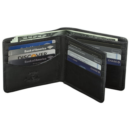 TONY PEROTTI MENS ITALIAN COW LEATHER CLASSIC BIFOLD MULTI CREDIT CARD