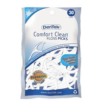 Dentek Comfort Clean Floss Picks, Cool Mint - 30 Ea