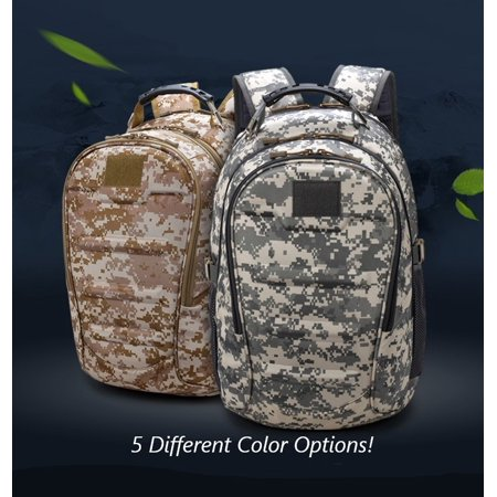 Heavy Duty Canvas Laptop Backpack Tactical Military Style Travel Camping
