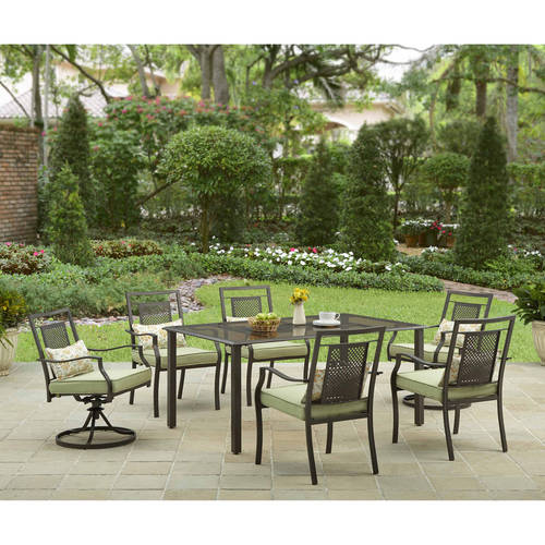 Better Homes and Gardens Bramblewood 7-Piece Patio Dining Set, Seats 6
