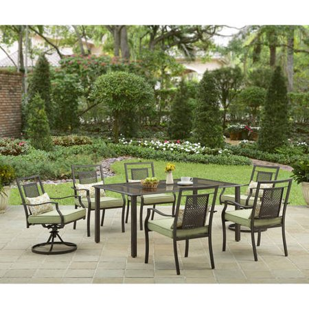 Better Homes and Gardens Bramblewood 7 Piece Patio Dining Set  Seats 6. Better Homes and Gardens Bramblewood 7 Piece Patio Dining Set