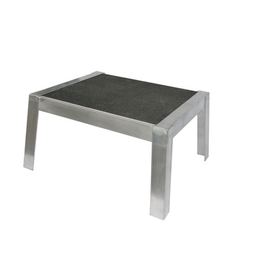 PVIFS Storage Solutions 1-Step Aluminum Platform Step Stool with 375 lb. Load Capacity by Pvifs