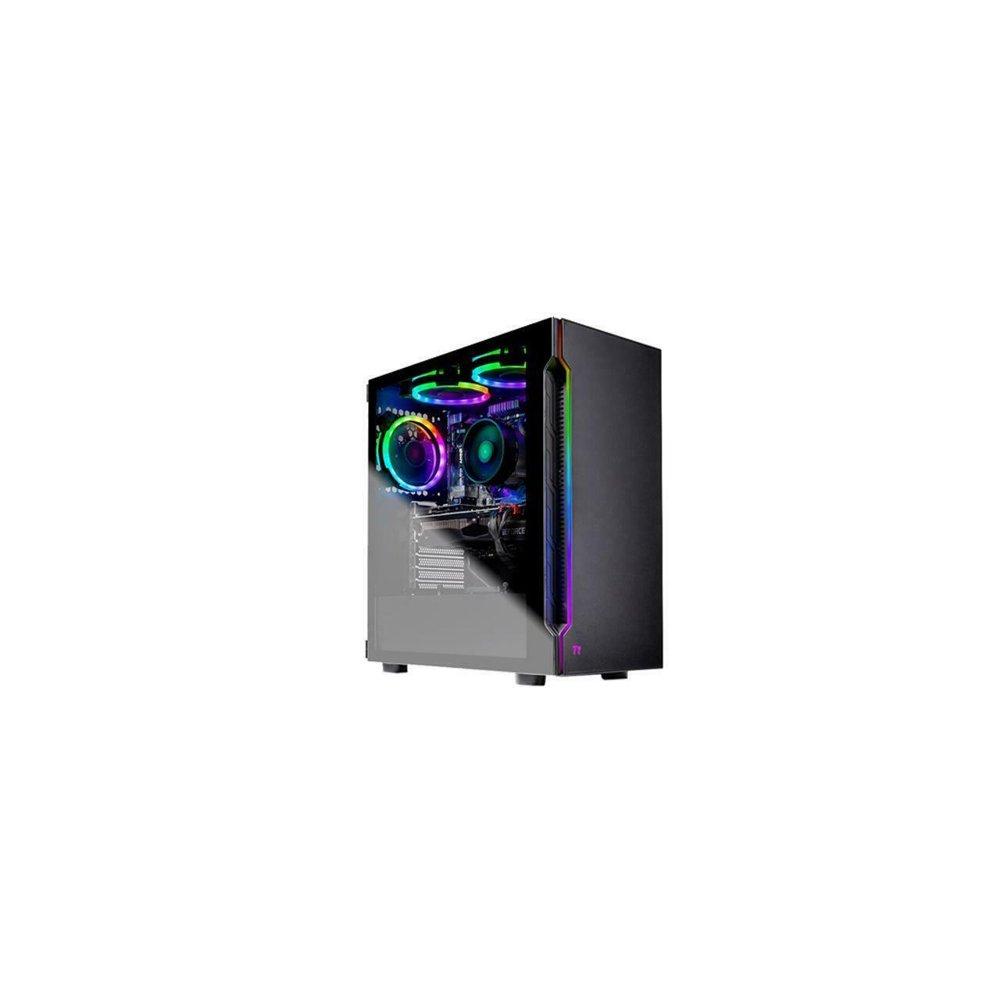 SkyTech Shadow - Gaming Desktop PC - AMD Ryzen 7 2700 (8-Core 3.2 GHz), NVIDIA GeForce RTX 2060 SUPER (8 GB), 16 GB DDR4, 500 GB SSD, AMD B450, Windows 10 Home 64-bit
