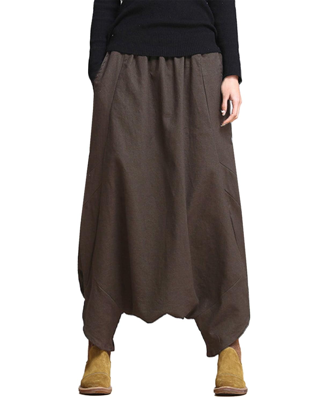 Womens Girl Harem Pants Yoga Festival Baggy Boho Trousers Retro Gypsy Pant US
