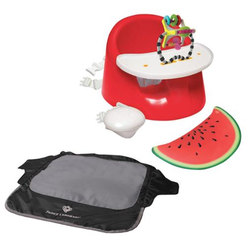 Prince Lionheart bebePOD Flex Plus Booster Seat with Seat Neat Chair Cover, Watermelon