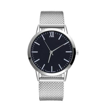 RM Women Silica Gel Mesh Belt Casual Watch Geneva Simple Mesh Belt Watch ()