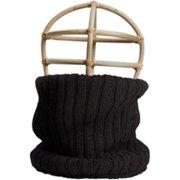 Nirvanna Designs SC20 Black Rib Knit Neckwarmer with Fleece Lining