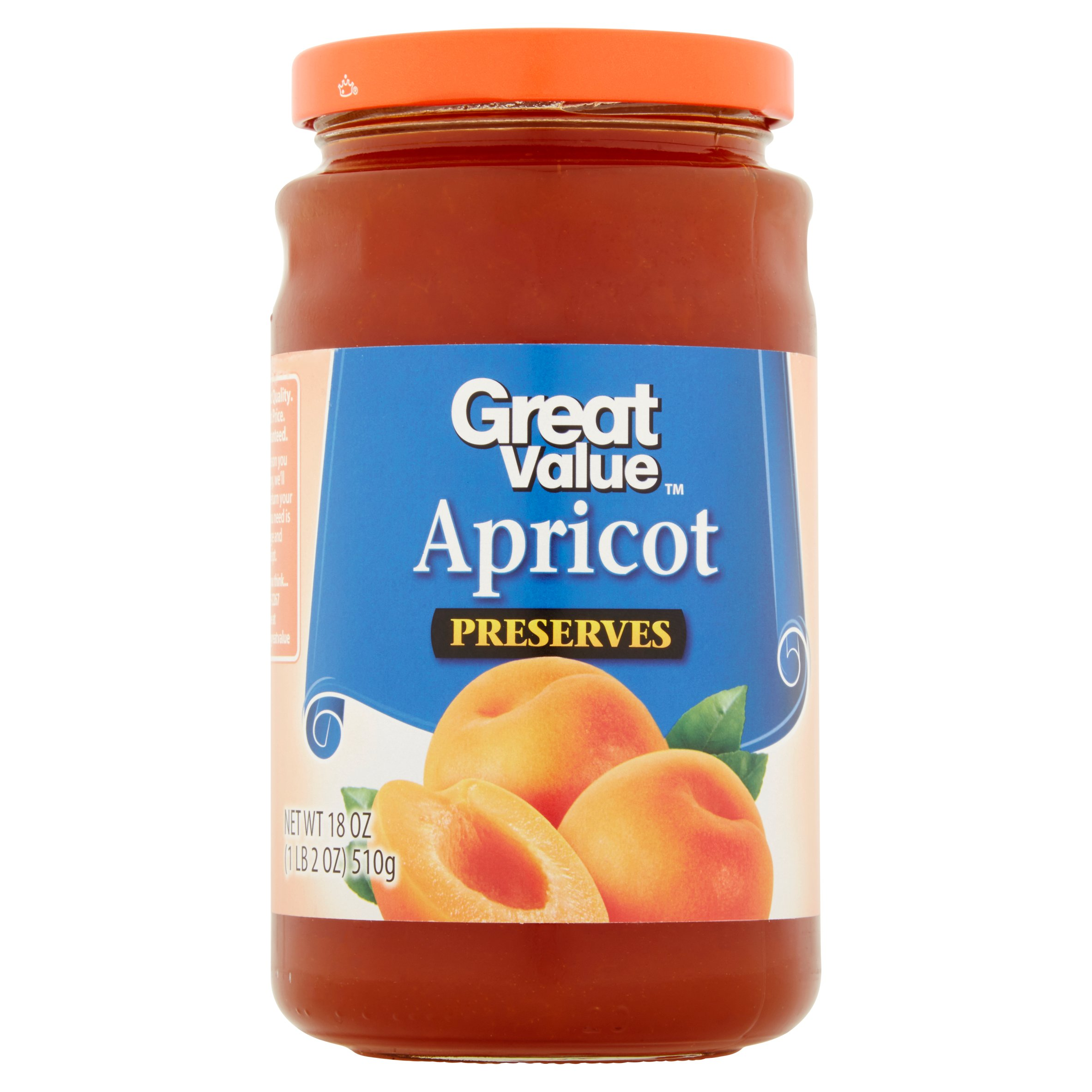 Great Value Apricot Preserves, 18 oz