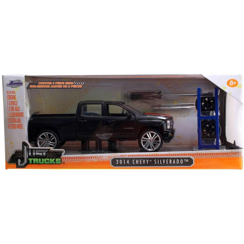 Just Trucks 1:24 Diecast W14 2014 Chevy Silverado, Primer Black by Jada Toys