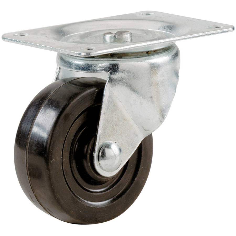"Shepherd 9477 2"" Rubber Wheel Swivel Plate Casters"