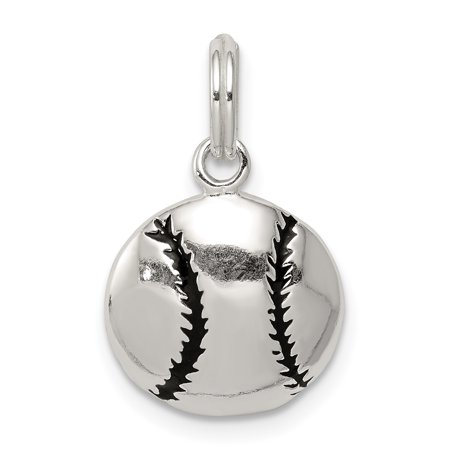 925 Sterling Silver Enamel Baseball Pendant Charm Necklace Sport Baseball/softball Gifts For Women For Her](Baseball Pennant)