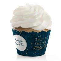 Twinkle Little Star - Baby Shower or Birthday Cupcake Wrappers - Set of 12