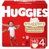 HUGGIES Little Snugglers Diapers, Size 4, 140 Count